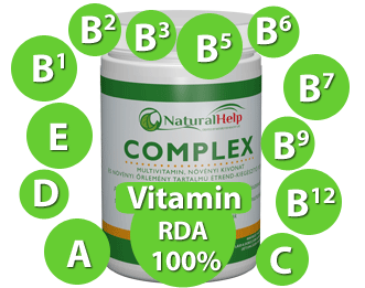 NaturalHelp Complexben található vitaminok